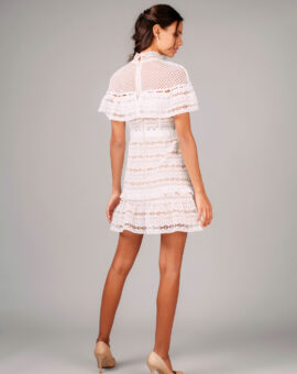 Self-Portrait Yoke Frill Mini Dress baksida