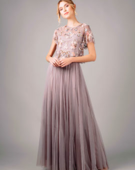 Needle and Thread Tulle Skirt and Embellished Top
