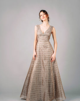 Aidan Mattox Metallic Organza Ball gown