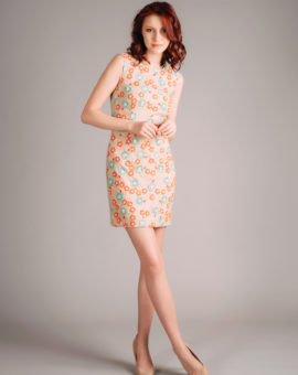 Hyr Needle and Thread Floral Embroidered Lace Dress
