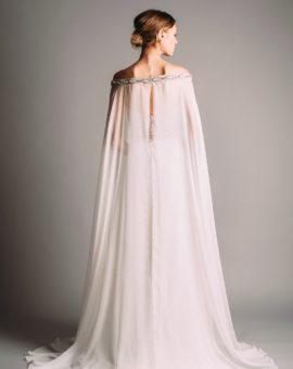 Rent a dress Terani Couture White Dress with Cape Sleeves