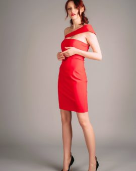 Atelier Miss Lu Red Mini Dress