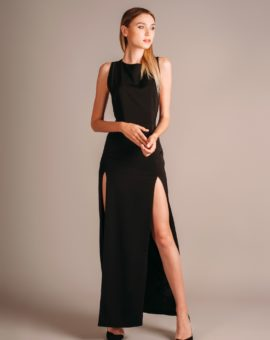 AQ/AQ Lexi Maxi Dress Black
