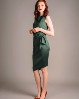 Atelier Miss Lu Green Draped Dress