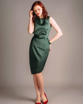 Hyr Atelier Miss Lu Green Draped Dress