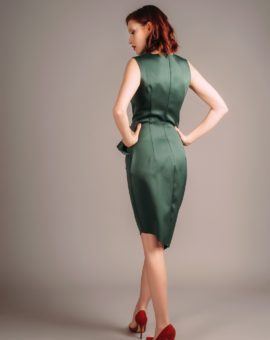 Hyra klänning Atelier Miss Lu Green Draped Dress