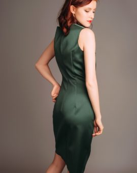 Rent a dress Atelier Miss Lu Green Draped Dress