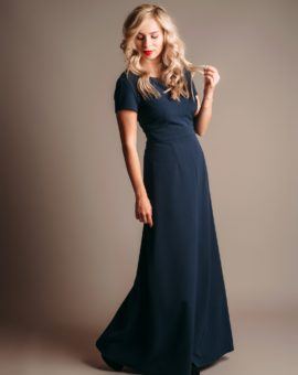 Rent Anna Ceornea Navy Blue Maxi Dress