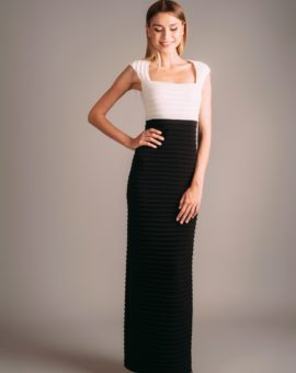 Hyr Calvin Klein Black and White Maxi Dress