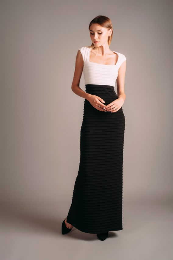 Calvin Klein Black and White Maxi Dress