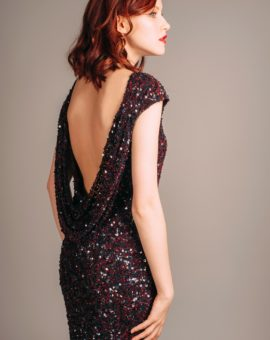 Hyra aftonklänning Theia Couture Sequin Open Back Dress