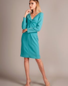 Moschino teal dress