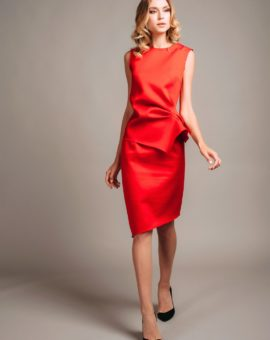 Atelier Miss Lu Red Waist Dress