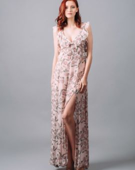 Rent for love and lemons bee balm floral maxi dress
