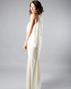 rent Acne Studios White Silk Dress