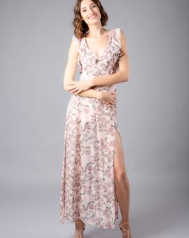 Hyra For Love and Lemons Bee Balm floral Maxi dress