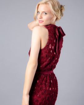 Hyra festklänning Red Anthropologie sequin short dress