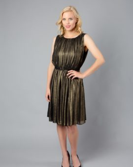 Calvin Klein Metallic Shimmering Gold Dress
