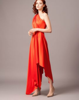 Solace London Marine Dress Red