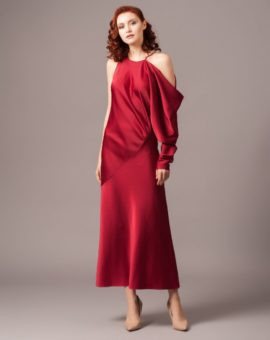 Rent AQ/AQ Giana One Sleeved Maxi Dress
