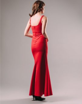 Hyra långklänning Jill Jill Stuart Red V-neck Sheath Gown