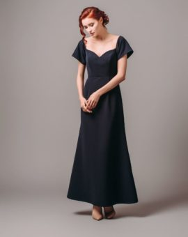 By Malina Jess Maxi Dress Navy Blue