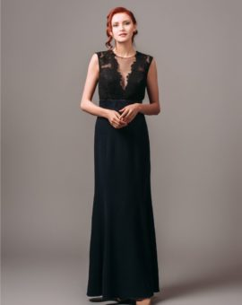 Theia Couture Illusion V-Neck Sheath Gown