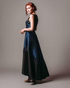 Hyra aftonklänning Theia Couture Navy Black Sleeveless Gown