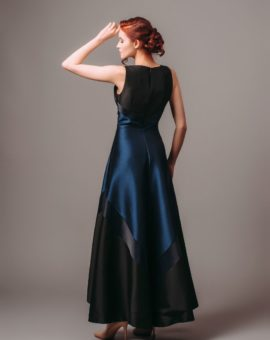 Hyra frackklänning Theia Couture Navy Black Sleeveless Gown