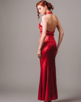 Rent Karen Millen Red Satin Halterneck Gown