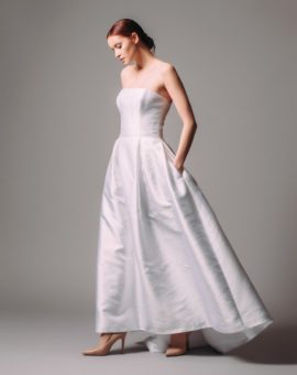 Tatiana Kaplun Strapless Wedding Gown with Belt and Bolero