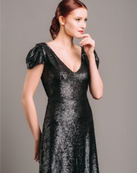 Rent By Malina Black Sequin Mini Dress