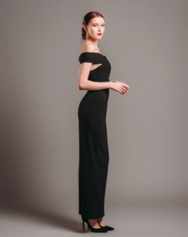 Hyra festklänning Solace London Black Cut-out Gown