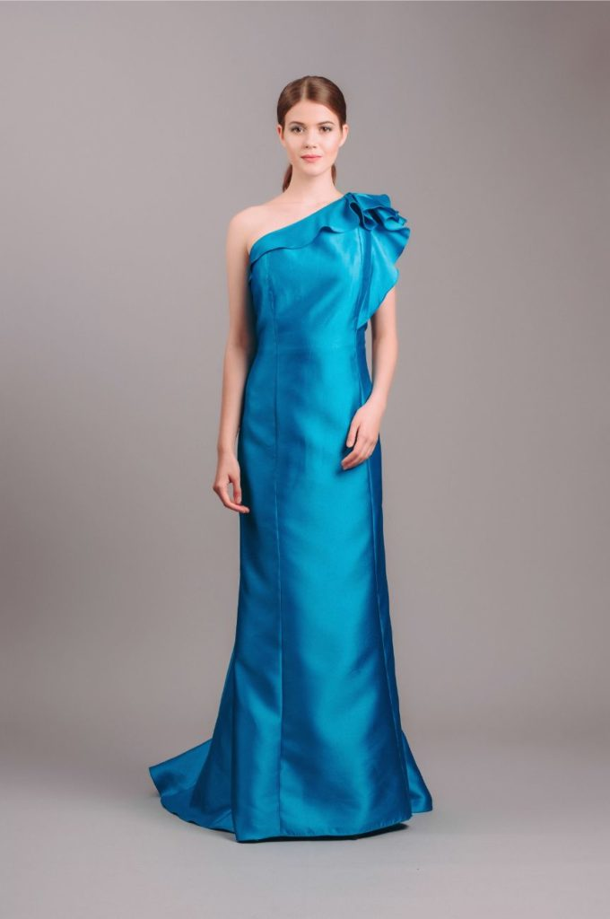 Carmen Marc Valvo Satin Ball Gown