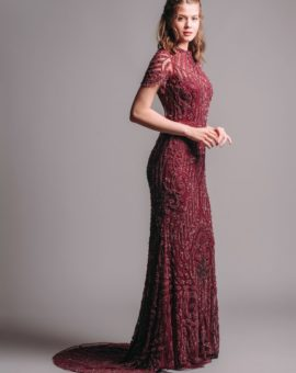 Hyra aftonklänning By Malina Cara gown red