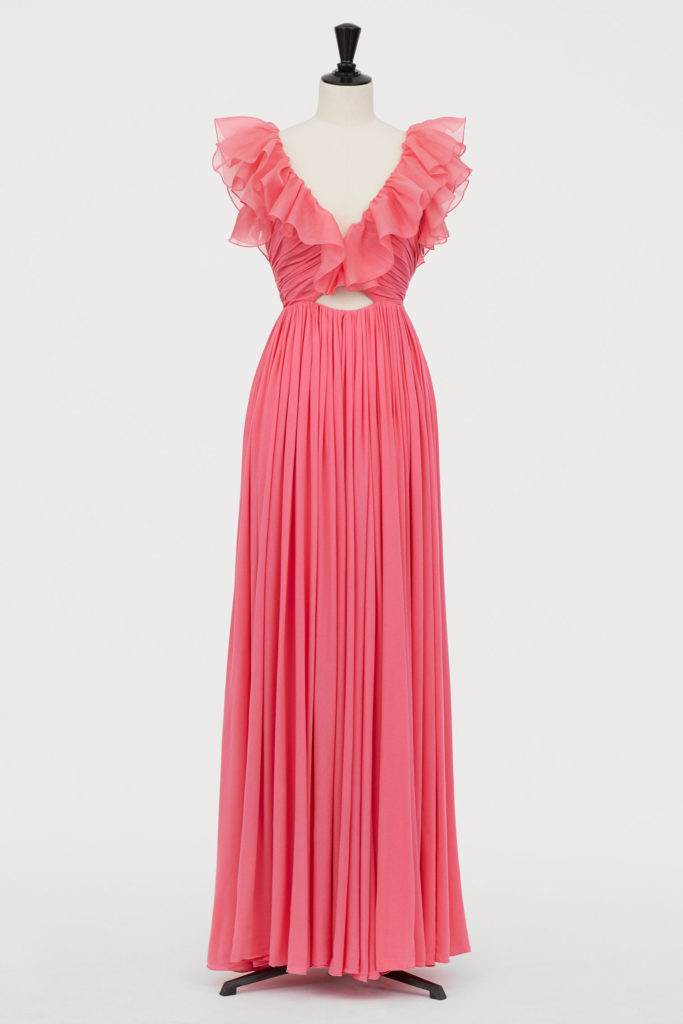 Giambattista Valli x H&M Silk Pink Maxi Dress