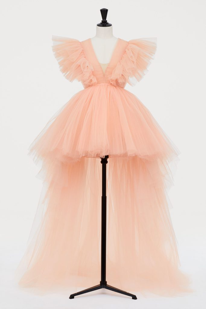 Giambattista Valli x H&M Peach Train Tulle Dress
